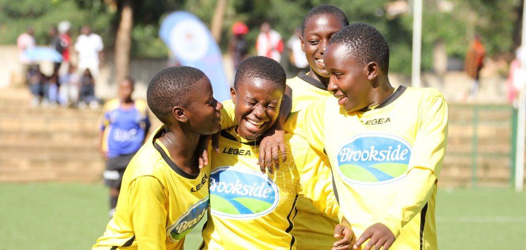 Kawempe Muslim Ladies FC Celebrate theri victory against Kampala Queens