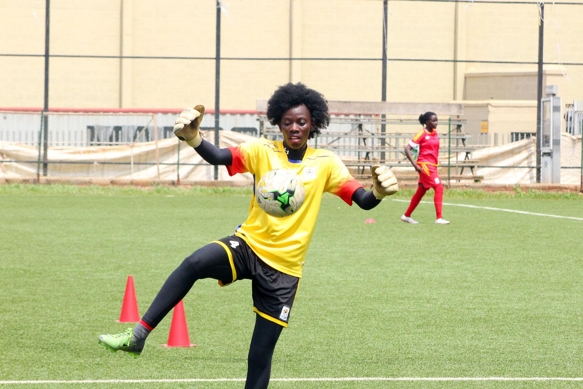 Goalie Aturo Ruth during training at Lugogo